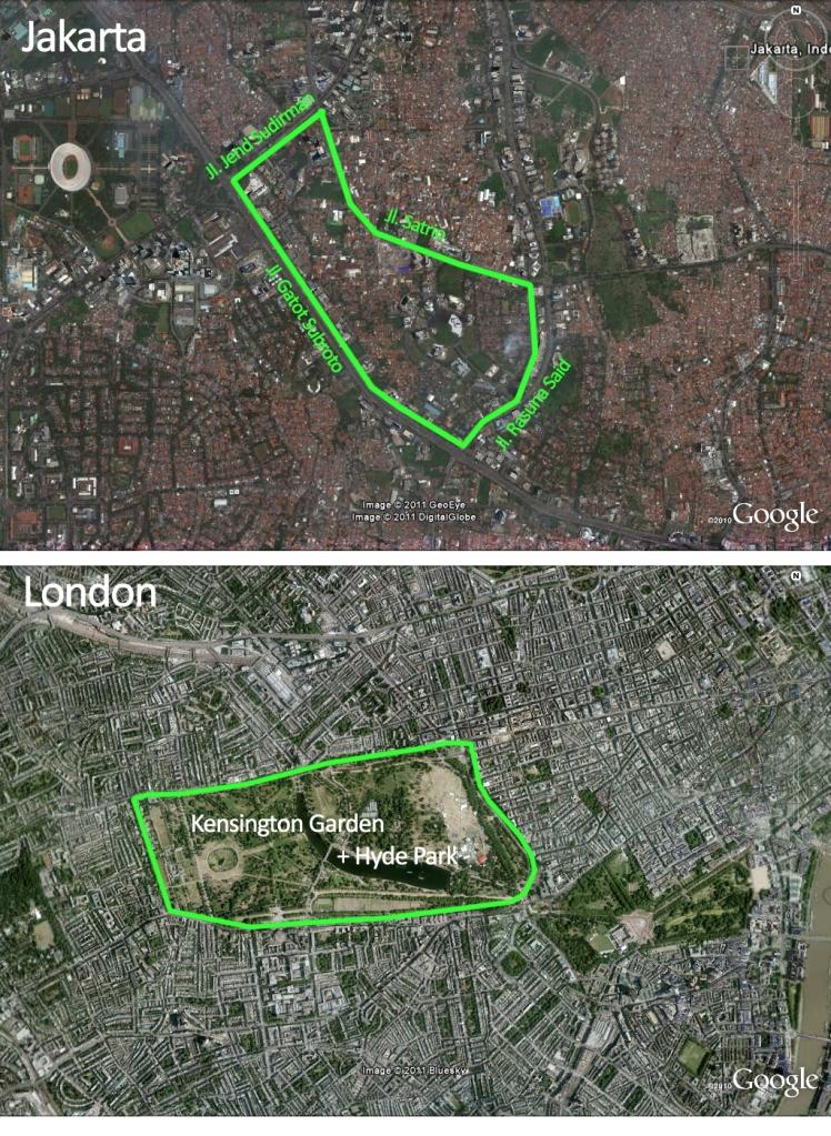Perbandingan Ruang Hijau Hyde Park
