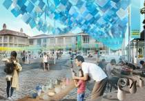 Visualization of Fatahillah Square during Kota Tua Creative Festival 2014. (source: KTCF Curatorial Team)